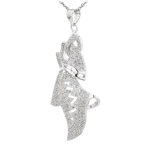pendentif femme argent zirconium 8300829 pic2
