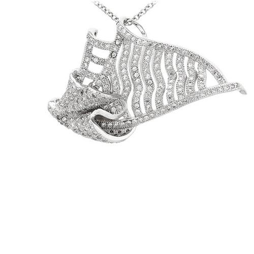 pendentif femme argent zirconium 8300830