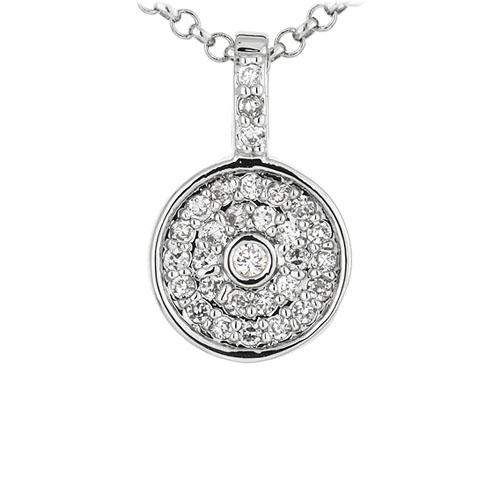 pendentif femme argent zirconium 8300911