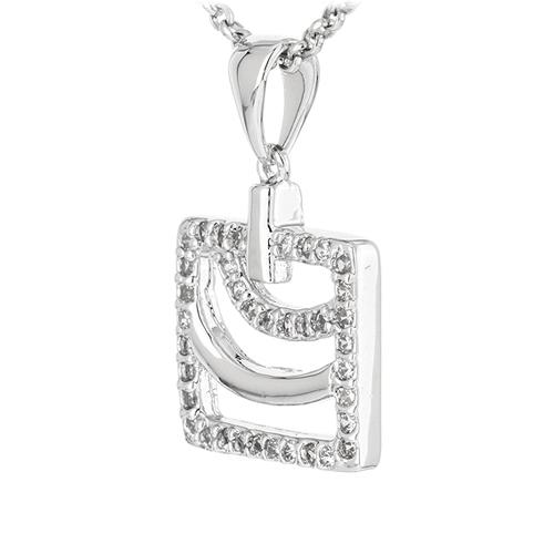 pendentif femme argent zirconium 8300913 pic2