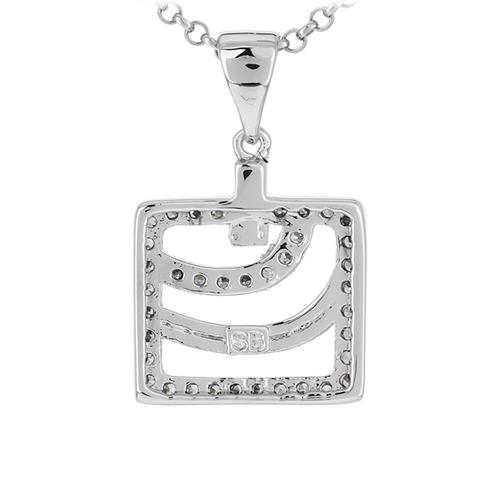 pendentif femme argent zirconium 8300913 pic3