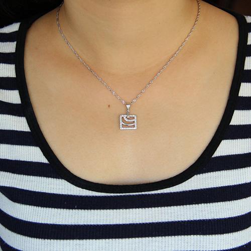 pendentif femme argent zirconium 8300913 pic4