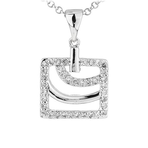 pendentif femme argent zirconium 8300913