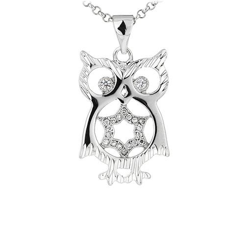 pendentif femme argent zirconium 8300914