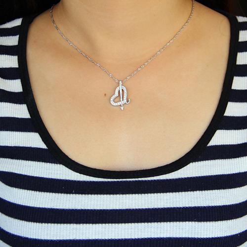 pendentif femme argent zirconium 8300917 pic4