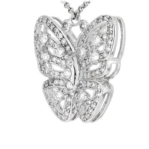 pendentif femme argent zirconium 8300922 pic2