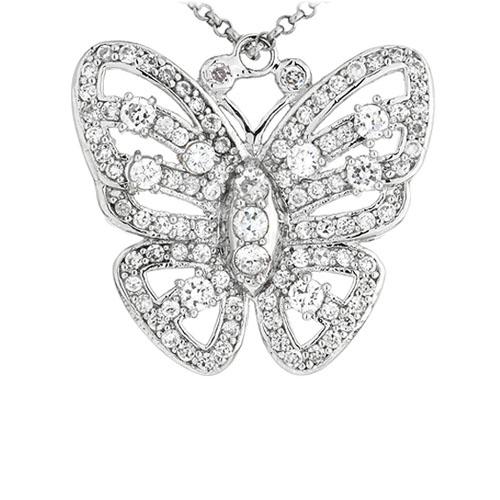 pendentif femme argent zirconium 8300922