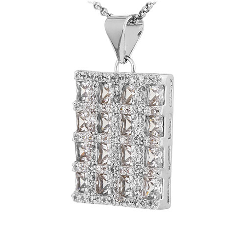 pendentif femme argent zirconium 8300924 pic2
