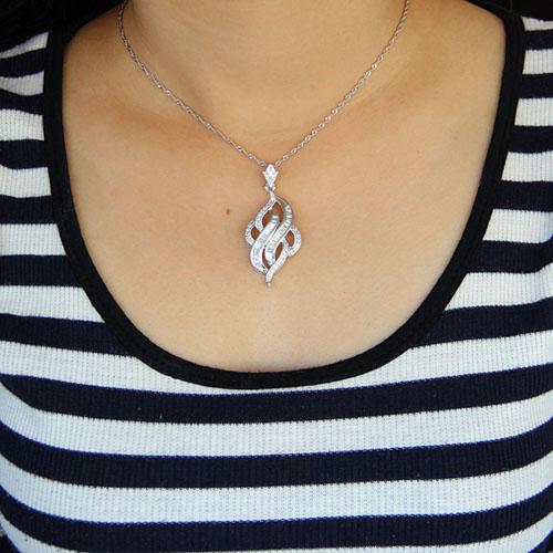 pendentif femme argent zirconium 8300925 pic4