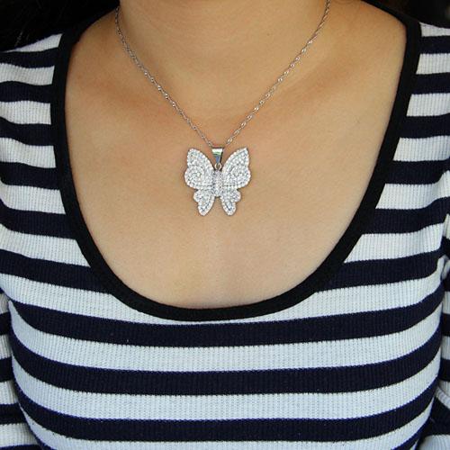 pendentif femme argent zirconium 8300928 pic4