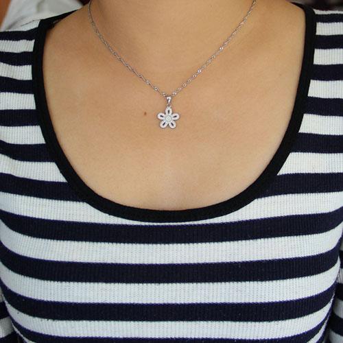 pendentif femme argent zirconium 8300941 pic4