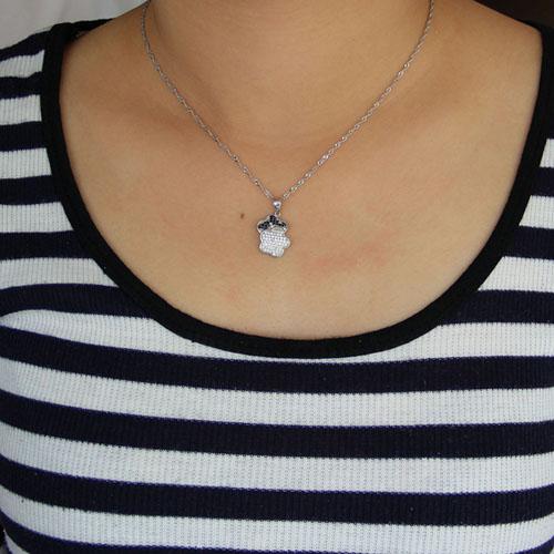 pendentif femme argent zirconium 8300945 pic4
