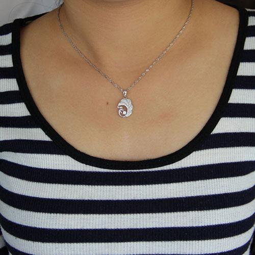 pendentif femme argent zirconium 8300947 pic4