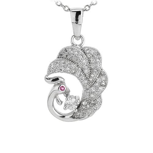 pendentif femme argent zirconium 8300947
