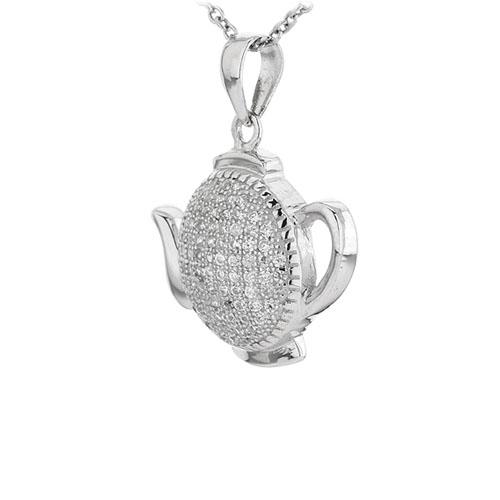 pendentif femme argent zirconium 8300950 pic2