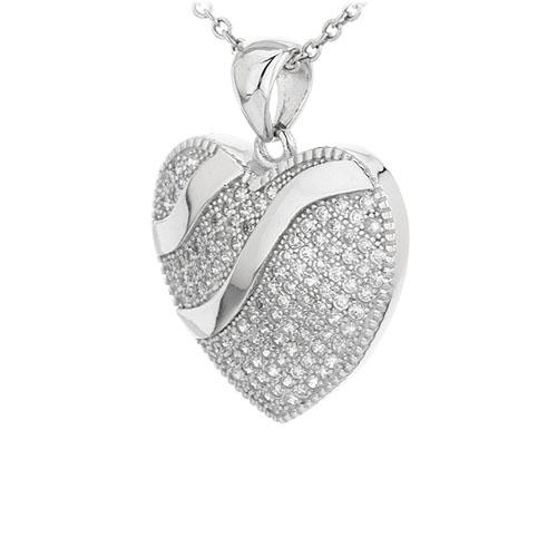 pendentif femme argent zirconium 8300954 pic2