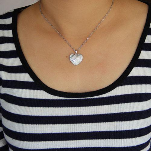 pendentif femme argent zirconium 8300954 pic4