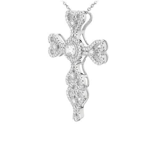 pendentif femme argent zirconium 8301005 pic2