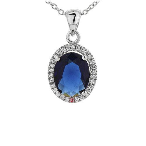 pendentif femme argent zirconium 8301012