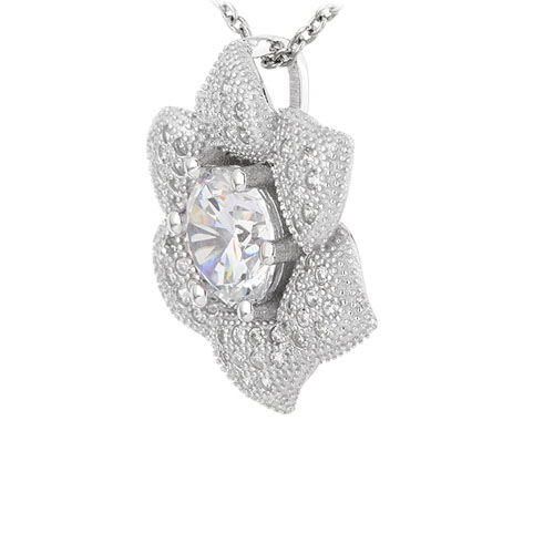 pendentif femme argent zirconium 8301016 pic2