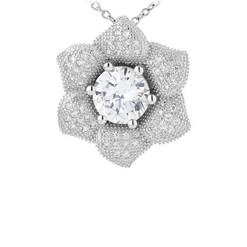 pendentif femme argent zirconium 8301016