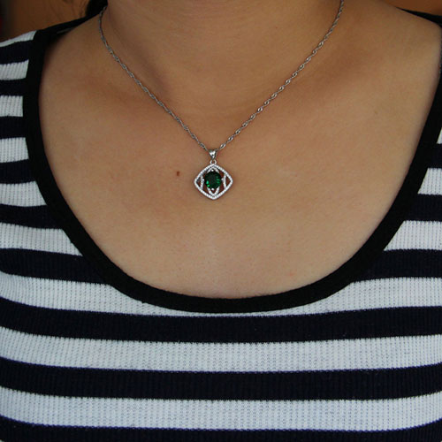 pendentif femme argent zirconium 8301018 pic4