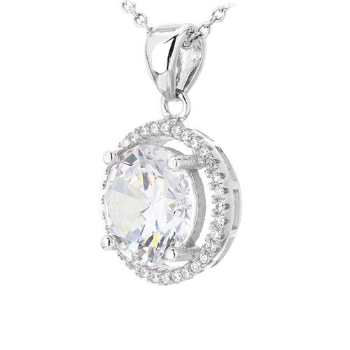 pendentif femme argent zirconium 8301023 pic2