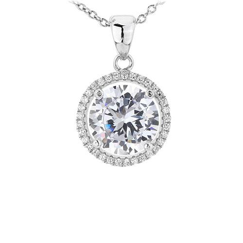pendentif femme argent zirconium 8301023