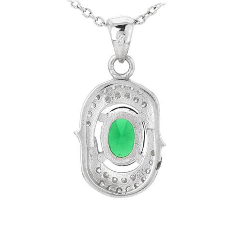 pendentif femme argent zirconium 8301026 pic3