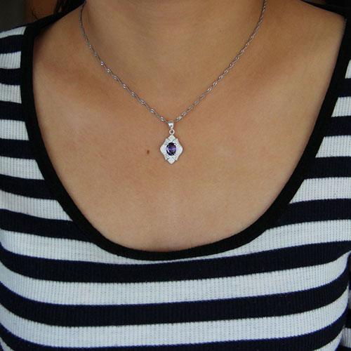 pendentif femme argent zirconium 8301029 pic4