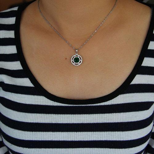pendentif femme argent zirconium 8301032 pic4