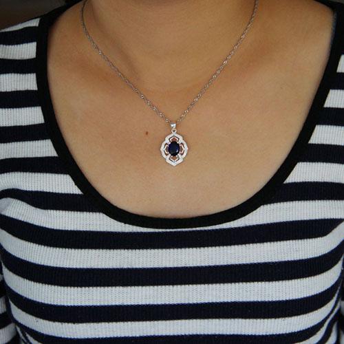pendentif femme argent zirconium 8301033 pic4