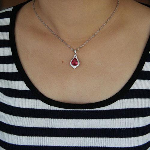 pendentif femme argent zirconium 8301034 pic4