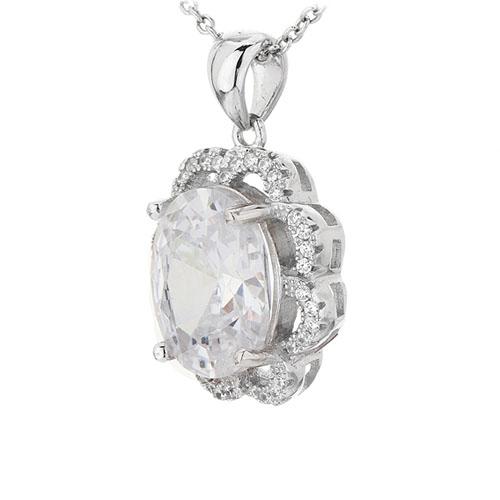 pendentif femme argent zirconium 8301035 pic2