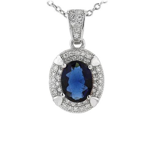 pendentif femme argent zirconium 8301038
