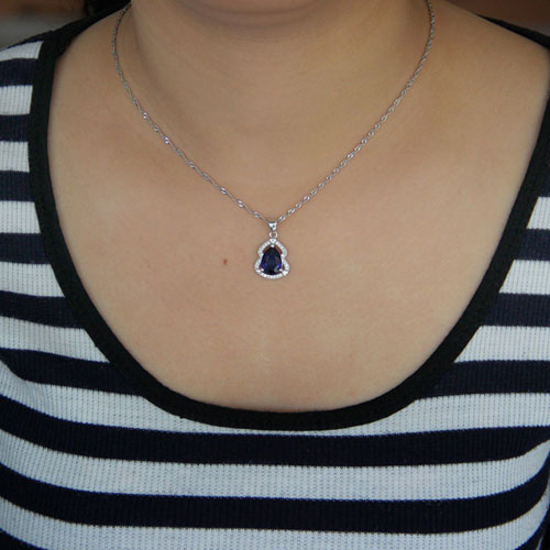 pendentif femme argent zirconium 8301039 pic4