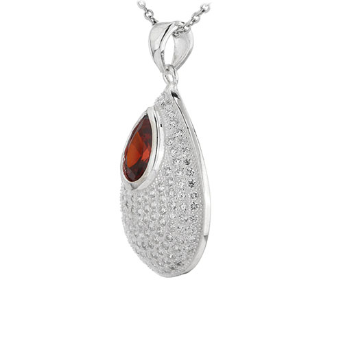 pendentif femme argent zirconium 8301041 pic2