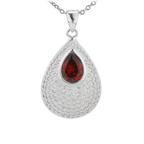 pendentif femme argent zirconium 8301041