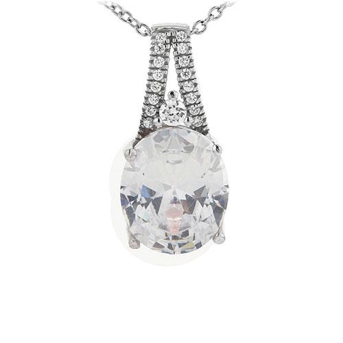 pendentif femme argent zirconium 8301042