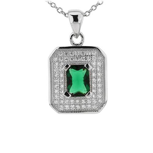 pendentif femme argent zirconium 8301044