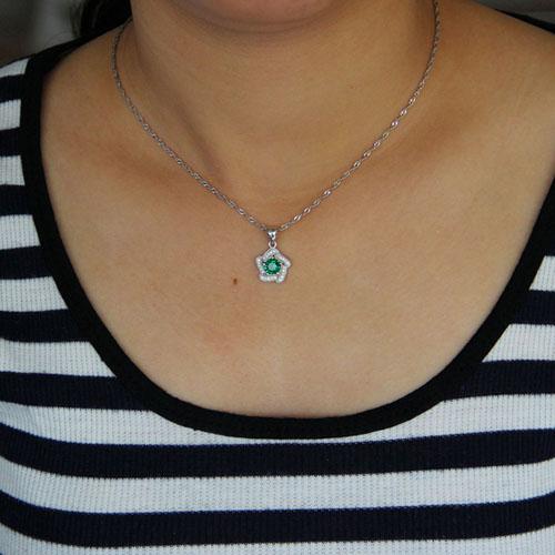 pendentif femme argent zirconium 8301045 pic4