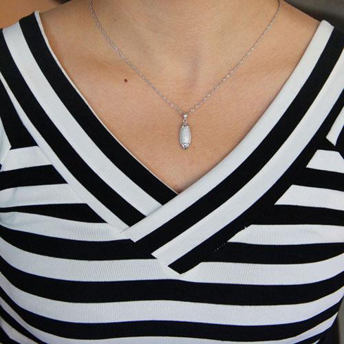 pendentif femme argent zirconium 8301046 pic4