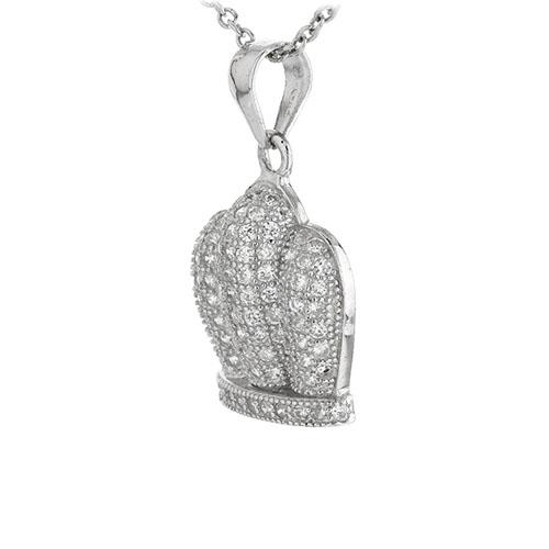 pendentif femme argent zirconium 8301047 pic2