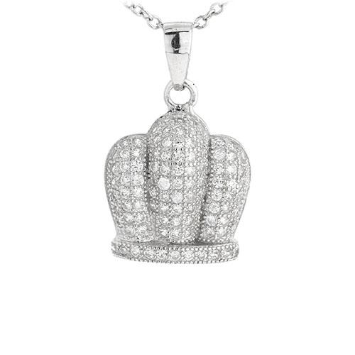 pendentif femme argent zirconium 8301047