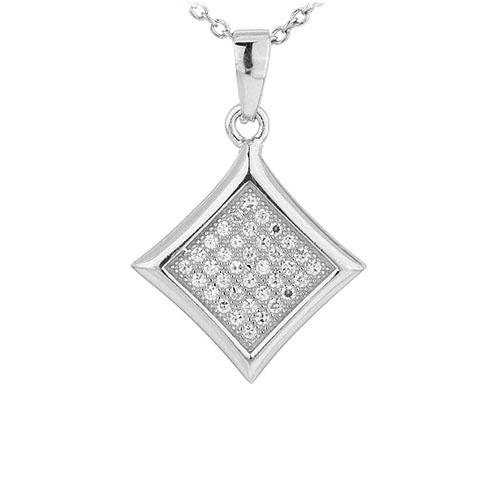 pendentif femme argent zirconium 8301049
