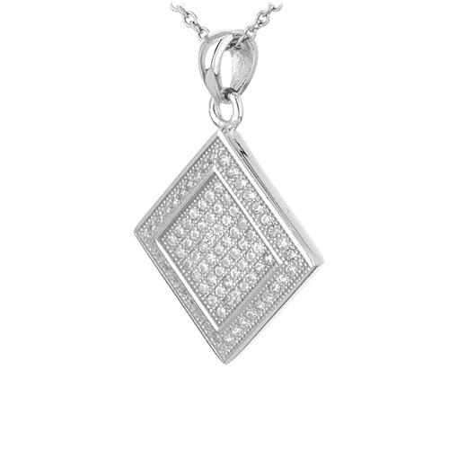 pendentif femme argent zirconium 8301052 pic2