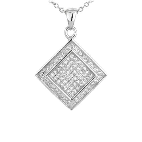 pendentif femme argent zirconium 8301052
