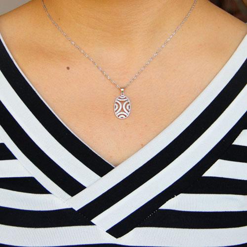 pendentif femme argent zirconium 8301057 pic4
