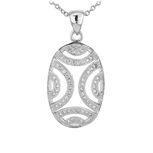 pendentif femme argent zirconium 8301057