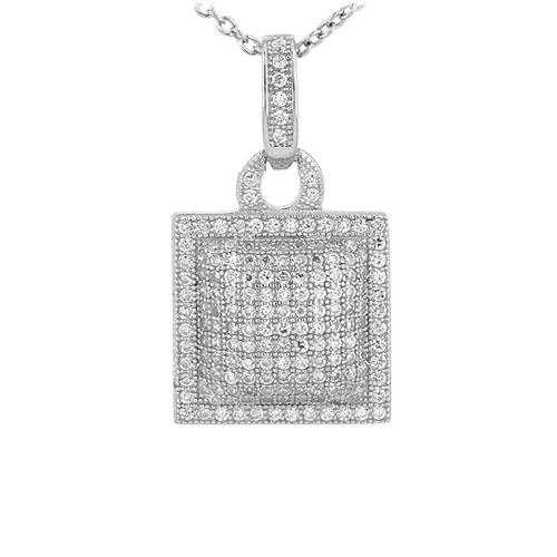 pendentif femme argent zirconium 8301058